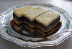 Mákos - tejfölös kocka recept képpel. Hozzávalók és az elkészítés részletes leírása. A mákos - tejfölös kocka elkészítési ideje: 60 perc Waffles, Pancakes, Sour Cream, Poppies, Sweets, Snacks, Breakfast, Food, Minden