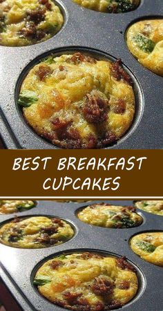 Breakfast Cupcakes, Breakfast Bites, Best Breakfast, Breakfast Casserole, Brunch Recipes, Breakfast Recipes, Morning Food, So Little Time, Cooking Recipes
