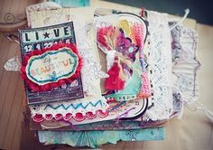 Gorgeously inspiring layout - lots and lots of decorated pages with fibers and textiles!