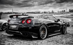 black and white cars nissan Wallpaper