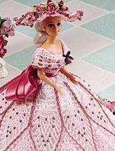very pretty crochet pattern for Barbie