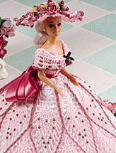 very pretty crochet pattern for Barbie