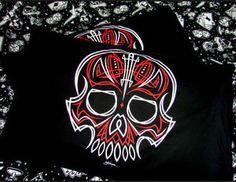 Hells Blankets  Pin Stripe Skull Pillowcase Set $29.95