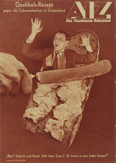 John Heartfield; Goebbels-Rezept gegen die Lebensmittelnot in Deutschland