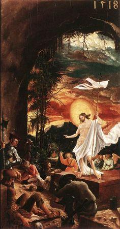 The Resurrection Of Christ (650х1242) | Albrecht Altdorfer