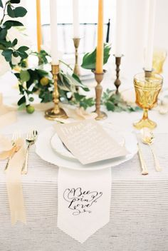 """""""Bee in love"""" themed table decor: http://www.stylemepretty.com/2016/02/04/elegant-organic-bee-in-love-wedding-inspiration/ 