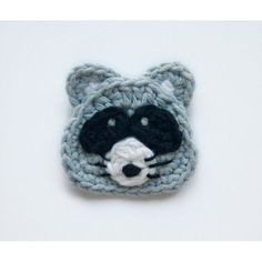 Raccoon Applique Crochet