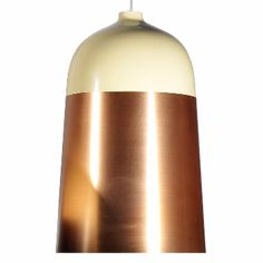 Innermost Glaze Suspension Light - Large: Innermost Glaze appear to manage to fuse delicate sections of metal and ceramic together seamlessly. Yet as with many quirky Innermost products all is not what it seems. The result is a mix of warm copper and ivory making it perfect for the home or more commercial environment.