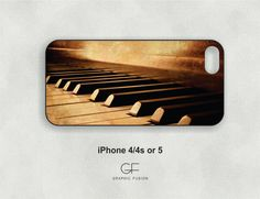 Choice of iphone 5 or 4/4s case Piano keys by GraphicFusion, $18.00
