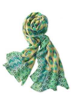 Pastel ikat scarf