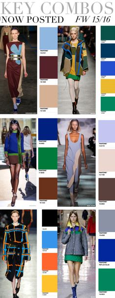 TREND COUNCIL F/W 2015- KEY COLOR COMBOS