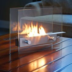 The Tabletop Fireplace happens to be a liquid fuel fireplace which will be able to rest on any stable surface, where it delivers the color, crackle, and comfort of a wood-burning fire, sans the smoke, smells, or sparks, of course. It will make use of recycled liquid ethanol fuel in order to release the warmth. | Coolest Gadgets