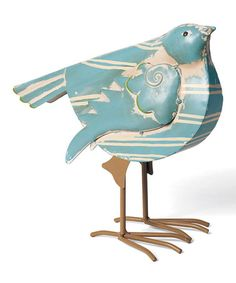 Take a look at this Fancy Stripe Bird Figurine by Foreside on #zulily today! $14.99