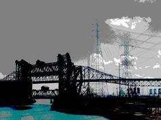 Buy Lift Bridges Meet Skyway Bridge, Chicago, Manipulated photograph (giclée) by Leon Sarantos on Artfinder. Discover thousands of other original paintings, prints, sculptures and photography from independent artists.