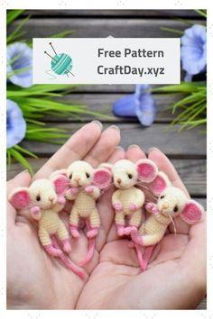 Mesmerizing Crochet an Amigurumi Rabbit Ideas. Lovely Crochet an Amigurumi Rabbit Ideas. Crochet Mouse, Cute Crochet, Crochet Dolls, Knit Crochet, Crochet Braids, Amigurumi Patterns, Crochet Patterns, Amigurumi Doll, Crochet Ideas