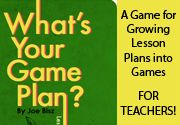 WHAT'S YOUR GAME PLAN? is a brainstorming game that works by the power of group collaboration. Your task is to enhance a traditional lesson (or game idea) with the mechanics of popular board games in only 20 minutes. Whether you have to teach the rules of citation or the rules of interviewing, there is usually a game plan that can help. If you're an educator, this game teaches you how to integrate educational games into your classroom. (Designed by a College Professor)