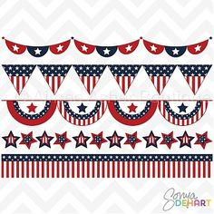 Patriotic Buntings :: Clipart and Graphics :: Aimee Asher Boutique