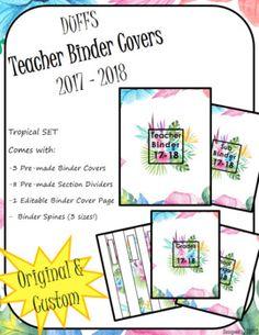 Teacher Binder Organization, Teacher Binder Covers, Sub Binder, Student Data, My Teacher, Meant To Be, Tropical