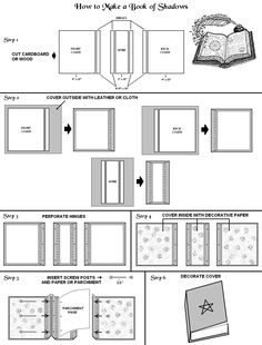 DIY BOS instructions- neat idea in order to make your own spellbook or magical journal