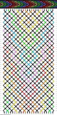 Plan pour un bracelet à 24 fils et 7 couleurs (multicolore)