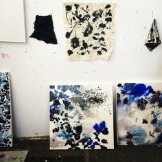 Current studio wall #studioshot #jengarrido #jennypennywood