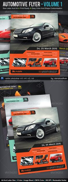 Automotive Flyer | Volume 1 #GraphicRiver Automotive Flyer | Volume 1 Specs : adobe photoshop cs3, cs4, cs5, cs6 Resolution 300 dpi Color CMYK Size Letter And A4 with Image Bleed Photo not incuded on download files Fonts : Arial : Standard Font Olney : .dafont /olney.font Created: 11September13 GraphicsFilesIncluded: PhotoshopPSD Layered: Yes MinimumAdobeCSVersion: CS3 PrintDimensions: 8.5x11 Tags: advertising #auto #automotive #banner #bike #business #campaign #c...