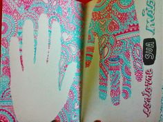 trace your hand - Wreck this journal