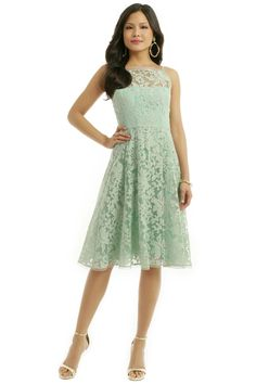 I love this SO MUCH.  Spearmint Alina Dress by Nanette Lepore for $75 | Rent The Runway