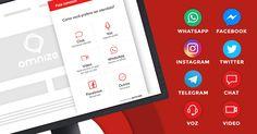 Compartilhe e ganhe 3 meses de licença grátis! Prepare-se para atender clientes por Facebook Messenger, Instagram, Twitter, Telegram, WhatsApp (Beta), Chat, Voz e Vídeo - tudo isso em uma única plataforma.