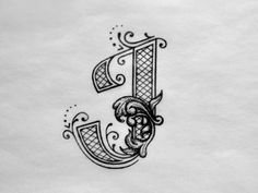 17 Best ideas about Letter J Tattoo Letter J Design, Monogram Design, Monogram Initials, Logo Design, Calligraphy Alphabet, Calligraphy Fonts, Fancy Letters, Graffiti, Johnson And Johnson