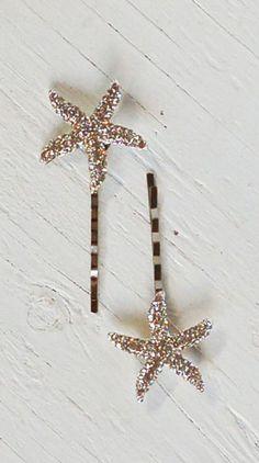 Rhinestone STARFISH Hair Accessories Bobby Pin Set