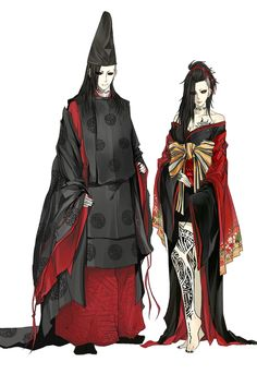 Male and Female version of Uta in ancient Japanese costume / Dynasty fashion. Oh my God, I love it!