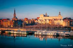 Szczecin o wschodzie słońca