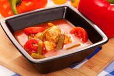 Zupa paprykowo-pomidorowa z pulpecikami