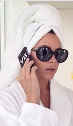 Who made  Victoria Beckham's black sunglasses?
