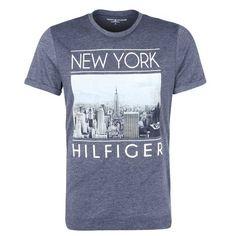Tommy Hilfiger – T-Shirt met NY Print – Grijs – New Arrival T-shirts L