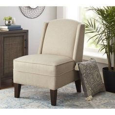 Better Homes and Gardens Kline Accent Chair, Beige