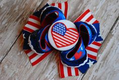 I Love the USA Boutique Bow by ChloeChicBowtique on Etsy