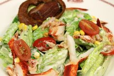Lobster Cobb Salad #CapeCod #Summer2014 #Seafood #salad #lobster #REALCHICAGO #food #yum thedrakehotel.com/dining