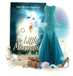 """""""The Little Mermaid"""" by dgia ❤ liked on Polyvore featuring Christian Louboutin and Swarovski"""