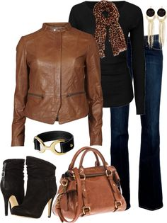 Black, Brown, and Leopard by averbeek on Polyvore#Repin By:Pinterest++ for iPad#