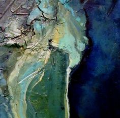 by Carol Nelson. Llevo tiempo queriendo crear algo asi. Un cuadro que es casi una maqueta de un terreno junto al mar. parece una imagen de Google Earth.