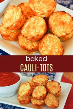 Easy Cheesy Baked Cauliflower Tots Recipe – Cupcakes & Kale Chips Baked Cauliflower Tots – easy, cheesy cauli tots are the healthy, veggie-packed alternative to tater tots for a kid-friendly side dish recipe. Cauli Tots, Cauliflower Tater Tots, Baked Cauliflower, Cauliflower Recipes, Cauliflower Side Dish, Cauliflower Risotto, Cauliflower Casserole, Cupcake Recipes, Baby Food Recipes