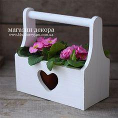 Корзинка деревянная с сердечком ― BlueberryJam