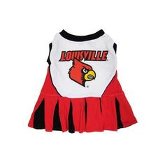 Pets First Louisville Cardinals Team Pet Dog Cheer Leading Sports Outfit Extra Small