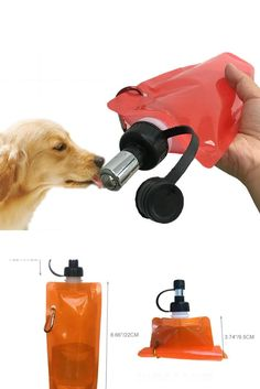 Portable Collapsible No Drip Dog Cat Water Bag, Travel Pet Water Feeder Leak-Proof Water Dispenser For Travel Pet Travel, Water Dispenser, Dog Cat, Pets, Bag, Bags, Animals And Pets
