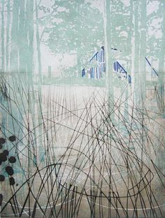Katherine Jones - Rheine Woods - etching and collagraph on paper -2012