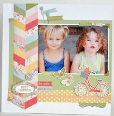 Best Friends Layout from Sisters Mini Theme. #echoparkpaper