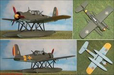 Rumänien: Arado Ar-196A3, normal Bordflugzeug, hier rumänische Version (Heller 241) 1:72