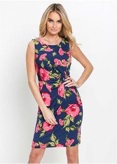 af553fdb365a Εμπριμέ φόρεμα ζέρσεϊ Μπλε σκούρο/Φούξια μουντό εμπριμέ bpc selection  bonprix collection   33.99 €